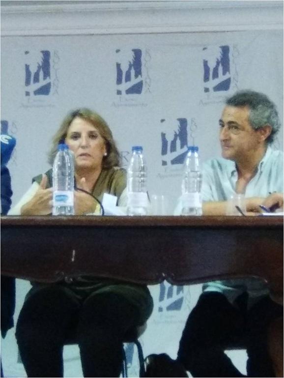 En la imagen, Lucía Vizcaya y Said Bentrika, presidente de la Asociación Codenaf.